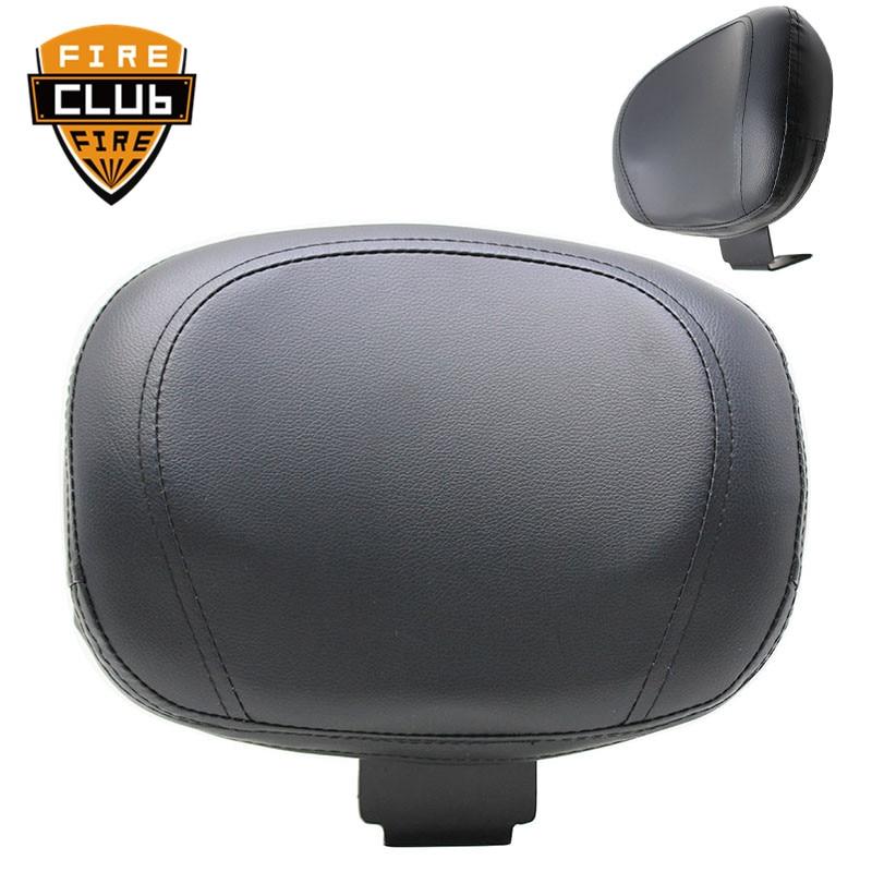 Seat Sissy Leather Driver Backrest Pad For Yamaha XVS 400 650 1998-2019 Motorcycle Black Rear Backrest