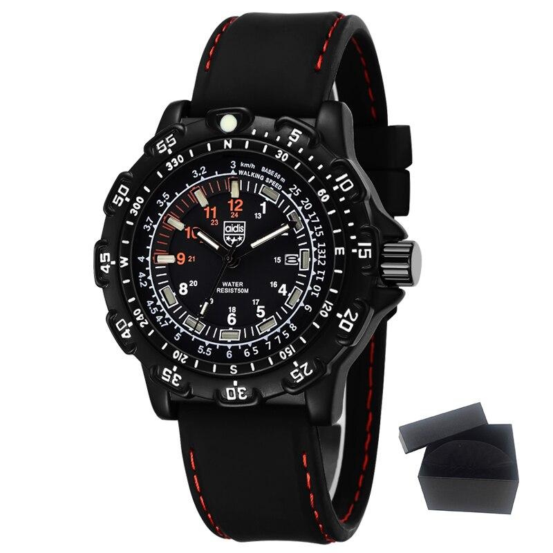 7fbd26baef65 Top de lujo relojes moda casual hombres noctilucentes reloj de cuarzo  impermeable deportes al aire libre Militar forma Relojes