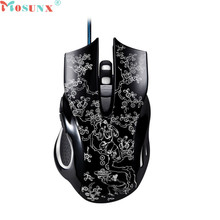 Mosunx Advanced 2017 high quality comfortable mini 2400 DPI 6D Buttons LED Mechanical Wired Gaming Mouse For PC Laptop 1PC