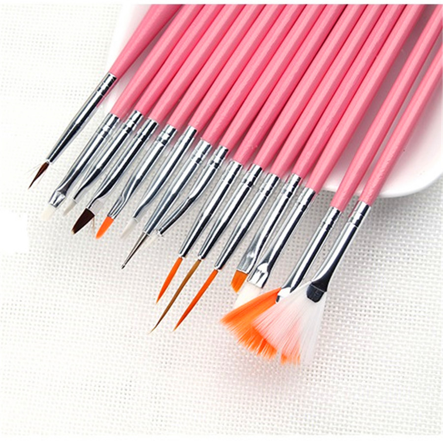 15 unidades pacote terno prego cor pintura caneta prego arte salao de beleza design conjunto pontilhar