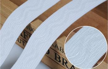 DIY 25mm szerokość czarny biały 3M 5M 2 linie faliste w kształcie antypoślizgowa powłoka do szycia taśma ochronna do deskorolki ruban couture craft dodatki do odzieży tanie i dobre opinie nylon w silicone coating