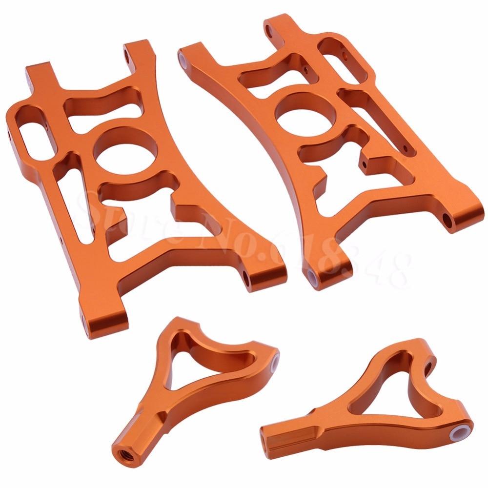 4PCS Aluminum Alloy Rear Suspension Arm Set L R For 1 5 HPI Baja 5B 5SC
