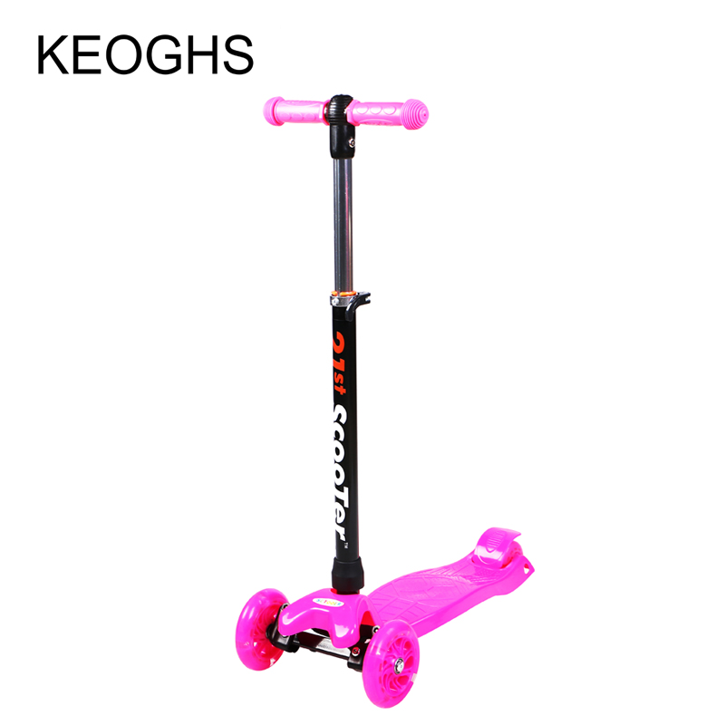 Image 3 - Childrens scooter baby outdoor sport PU 3wheels golw disassembly Bodybuilding plastic height adjustable-in Kick Scooters,Foot Scooters from Sports & Entertainment on AliExpress