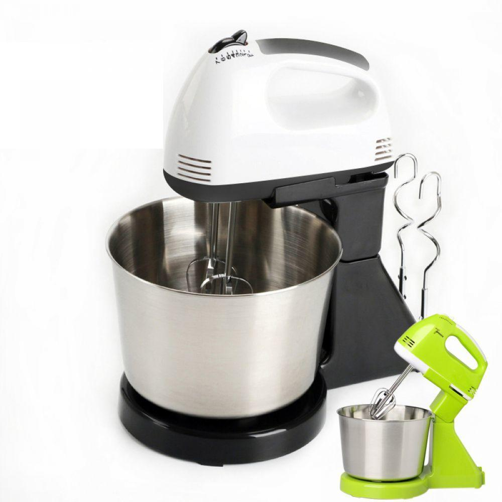 New Electric Food Mixer Table &Stand Cake Dough Mixer Handheld Egg Beater Blender Baking Whipping Cream Machine 7 Speed