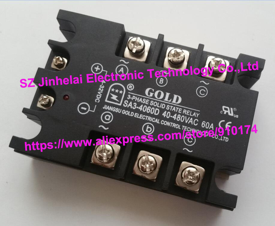 SA34060D(SA3-4060D) GOLD New and original SSR 3-phase DC control AC SOLID STATE RELAY 480VAC 60A new and original sa34080d sa3 4080d gold solid state relay ssr 480vac 80a
