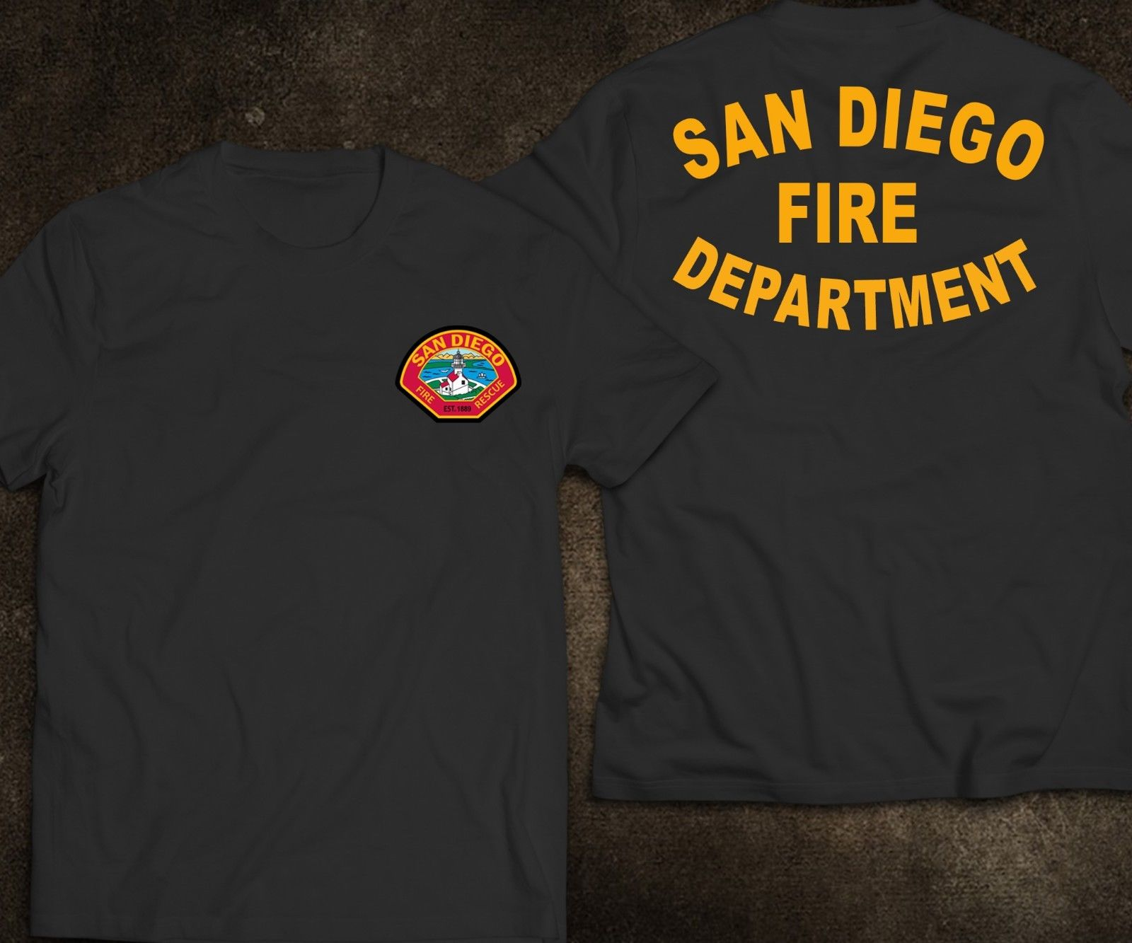 2019 Funny New San Diego Firefighter Fire Department Rare Firearm T-Shirt Double Side Unisex Tee