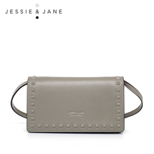 JESSIE & JANE Damenmode Niet Design Split Leder Kupplung, Mini kreuzkörper Beutel 1339