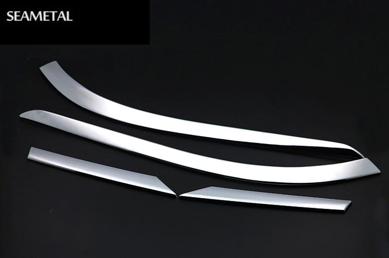 Prix pour Pour KIA Sportage 4 QL 2016 2017 Voiture-Style Arrière Feux Arrière Cadre Sourcil Décoration Autocollant ABS Chrome Accessoires Car Styling