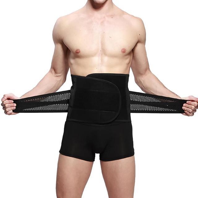 Waist Belt For Men Male New Abdomen Fat Burning Girdle Belly Body Sculpting Shaper Corset Cummerbund Tummy Slimming Belt Protect