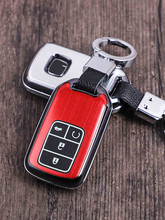 Car key Case Key Chain aluminum alloy metal Protector For Honda Civic 2016 2017 2018