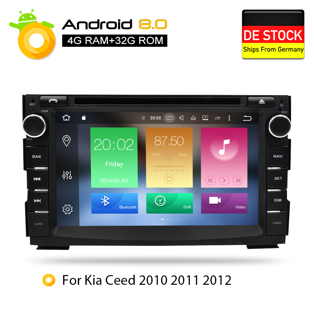 Android 8.0 Car DVD Player GPS Glonass Navigation Multimedia for Kia Ceed 2010 2011 2012 Auto BT RDS Radio Audio Video Stereo