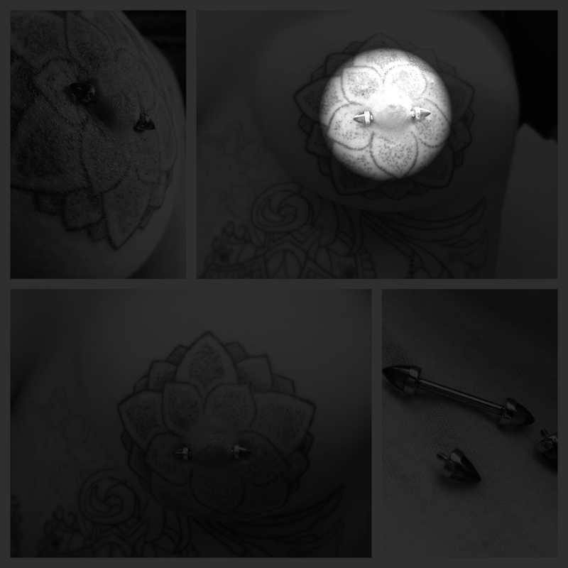 BOG-1 Pair Vàng Trong Nội Bộ Chủ Đề 316L Phẫu Thuật Thép Barbell Piercing Cone Glass Núm Vú Nhẫn Bar Body Jewelry