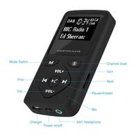 Portable DAB/DAB+ Pocket Digital Radio Receiver Bluetooth MP3 Player with headphones