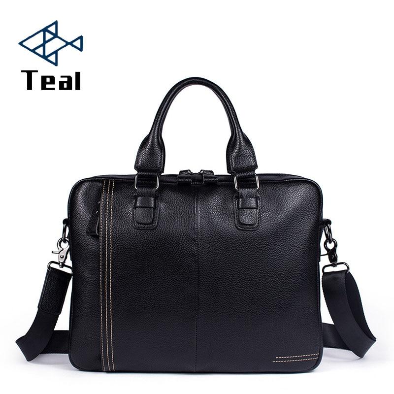 2019 Men Bag Briefcase Luxury Brand Genuine Leather Men's Messenger Bag Vintage Shoulder Bag Handsome Crossbody Handbags