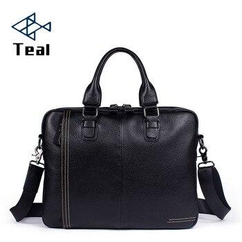 2020 Men Bag Briefcase luxury Brand Genuine Leather men's messenger bag Vintage shoulder bag Handsome crossbody handbags