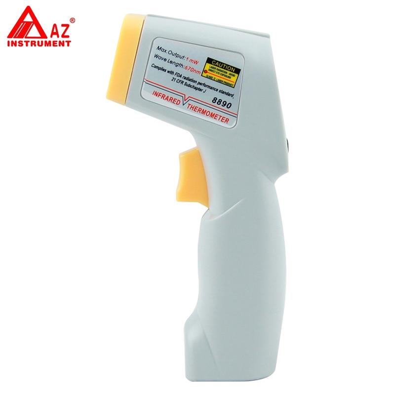 AZ-8890 Digital Gun Type Infrared IR Handheld Thermometer tpi 306c 40 150 pen type digital thermometer