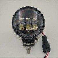 1Pair 30W 5 6LEDs 6500K 1440LM Round LED A Pillar Off Road Roof Spotlight Running Lights