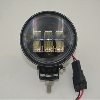 1Pair 30W 5 6LEDs 6500K 1440LM Round LED A Pillar Off Road Roof Spotlight Running Lights