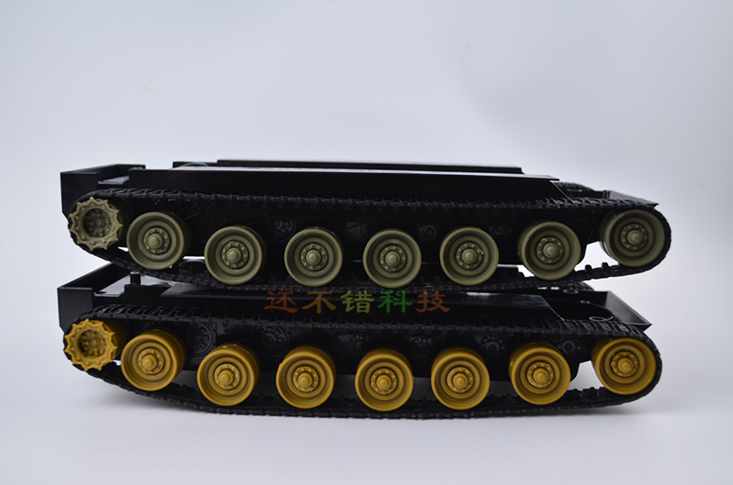 ФОТО DIY 70 Plastic Tank Chassis with Rubber Crawler belt Tracked Vehicle Robot Chassis