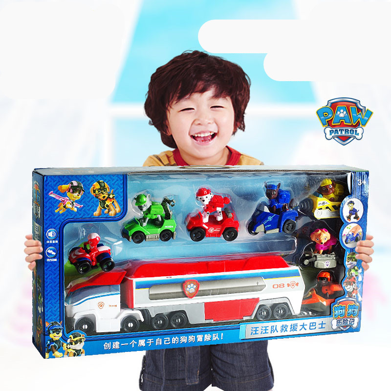 Paw Patrol dog Patrol car Mobile rescue big bus puppy patrol paw patrol deformation children s