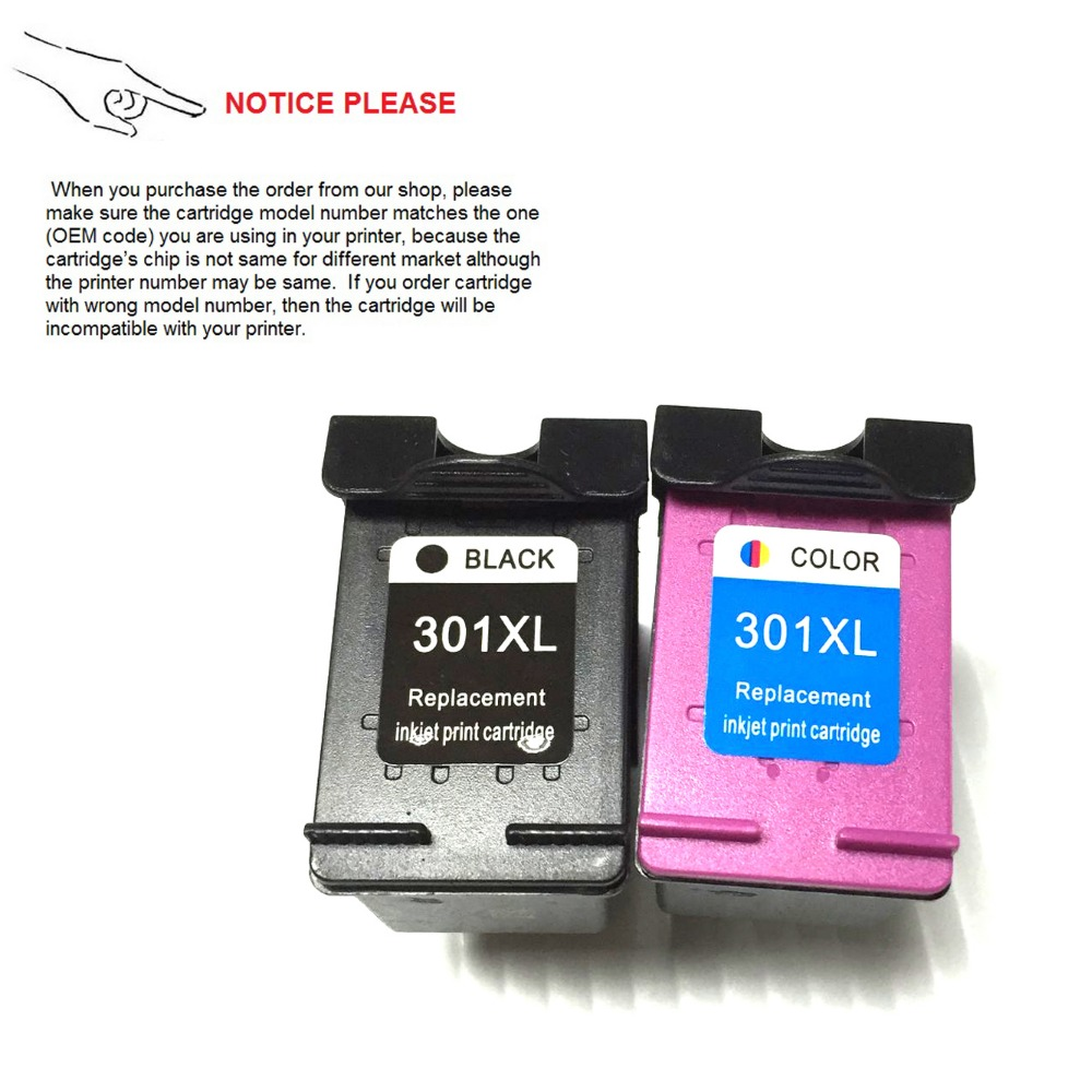 (New version) Ink cartridge for HP301 HP 301 HP301XL Deskjet 1050 2050 2050s 3050 2150 3150 D1010 1510 2540 4500 printer