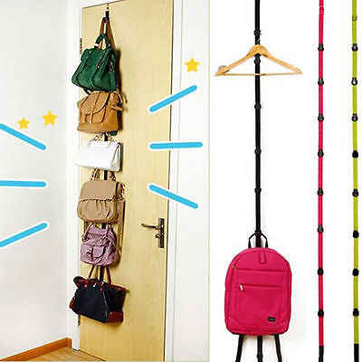 Popular Adjustable Over Door Straps Hanger Hat Bag Coat Clothes Rack Hooks