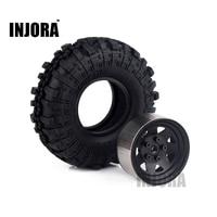 4PCS 1 9 Rubber Tyre Black Metal Wheel Rim For 1 10 RC Crawler Axial SCX10