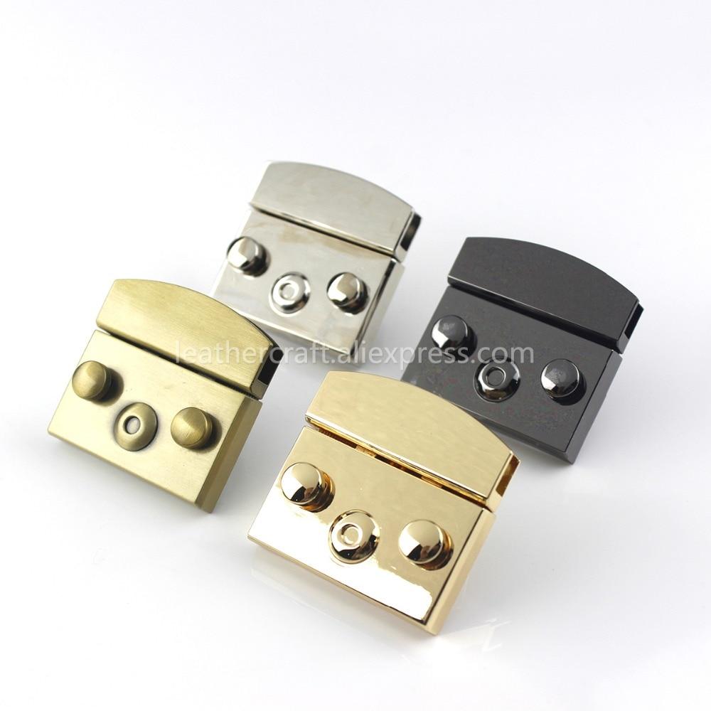 2Pcs Metal Lock Snap Locks Closure Use for Box Suitcase DIY Repair Replacements