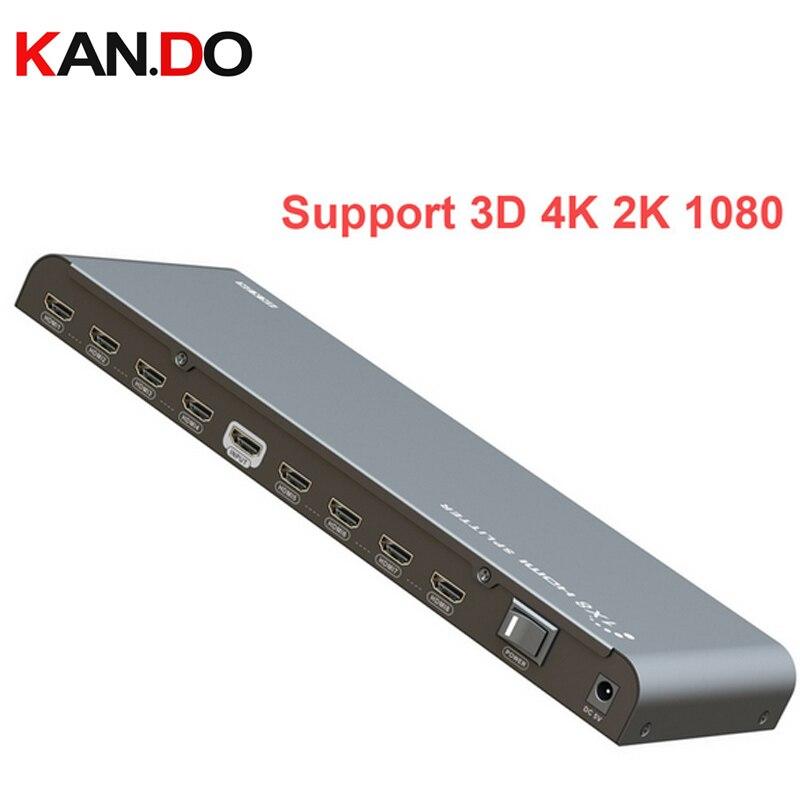 3D 4 K hdmi devider 2 K répartiteur de puissance 1080 P HDMI séparateur audio vidéo 8ch HDMI diviseur HDMI répartiteur de puissance convertisseur vidéo 3D