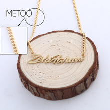 DOREMI Personalized Custom Name Necklace for Women Customized Nameplate Numbers Girl Kids Handmade Not Change Color