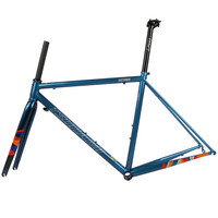 Цунами 520 термической обработке суперлегкая дорога велосипед стальная рама Хамелеон синий дорога рамка 47/50/53 см