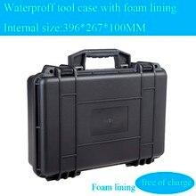 396x267x110 мм Водонепроницаемый случае инструмент Toolbox Камера корпусом прибора окне чемодан ударопрочный герметичный с предварительно -cut пена подкладка