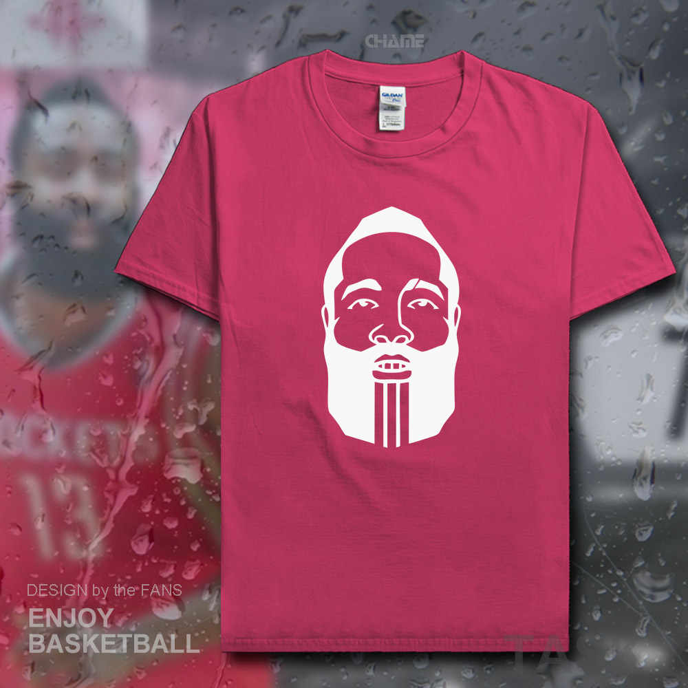 88ba5849cfb8 James Harden beard t shirt men USA basketballer Houston jerseys cotton t- shirt Rockets clothes