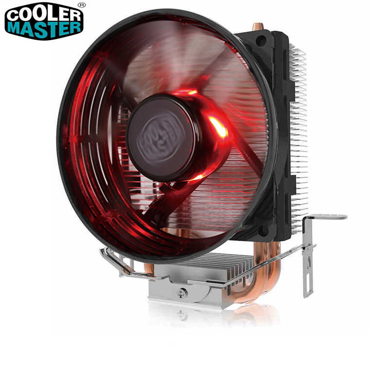 Cooler Master T20 2 Copper Heatpipes CPU cooler for Intel 775 115X AMD AM4 AM3 CPU radiator 95.5mm 3pin cooling CPU fan PC quiet