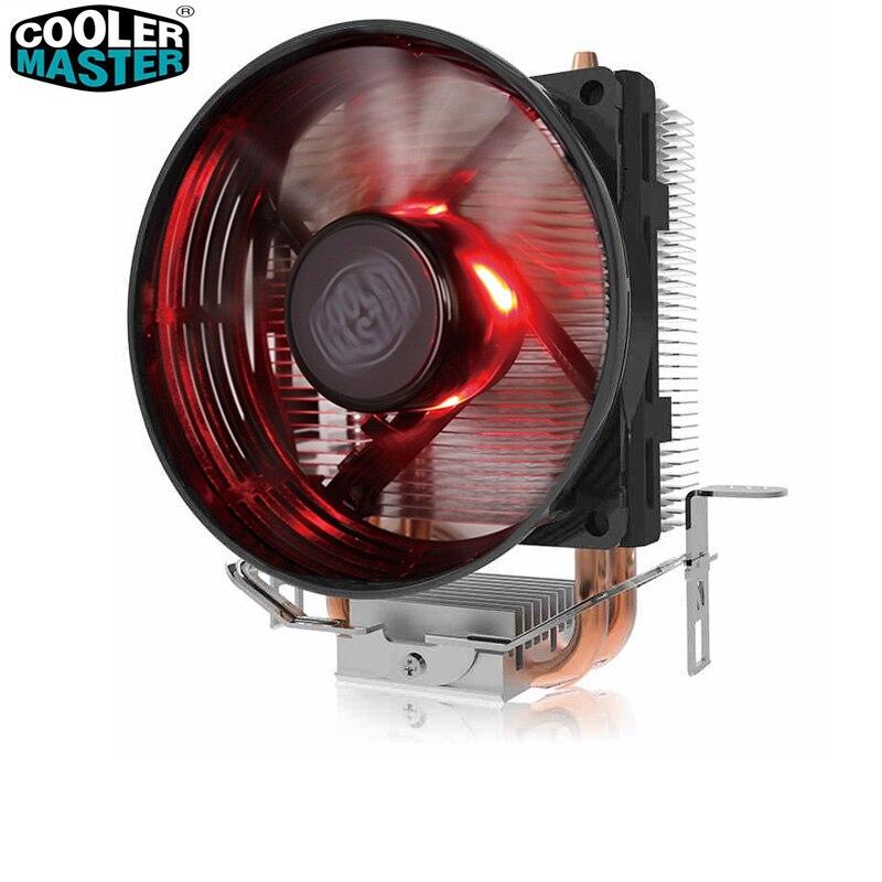 Cooler Master T20 2 Heatpipes In Rame di raffreddamento della CPU per Intel 775 115X AMD AM4 AM3 CPU radiatore 95.5mm 3pin ventola di raffreddamento della CPU PC silenzioso
