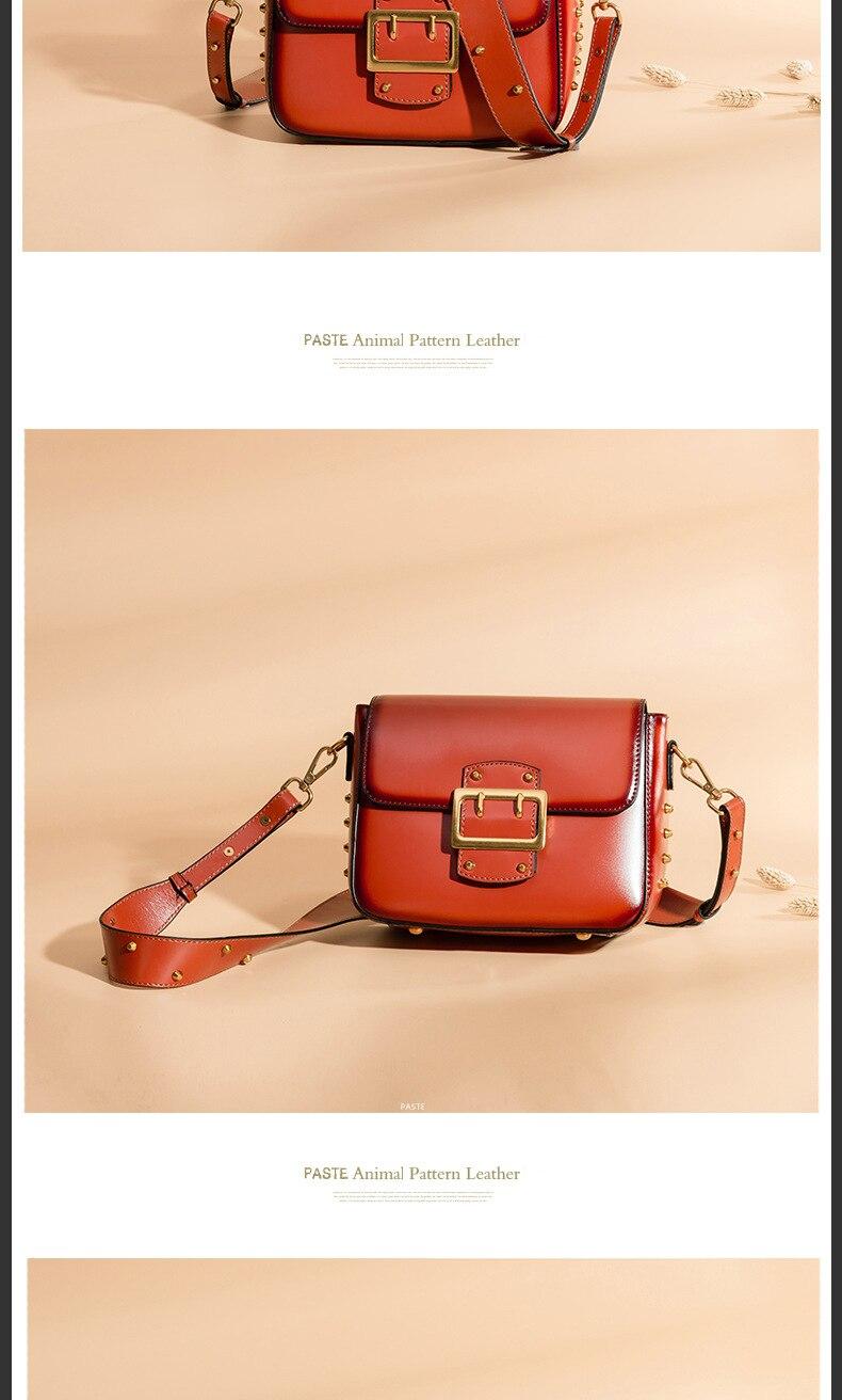 Vintage Real Leather Wide shoulder strap Handbag premium quality fashion genuine leather Shoulder Bags of Famous Brand (10)
