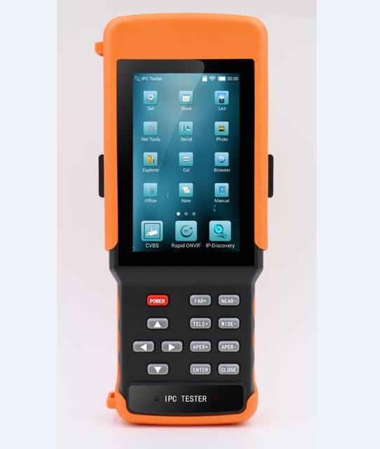 4.3 Inch H.265 4 K IP CCTV Tester Monitor IP CVBS Tương Tự Camera Tester WIFI PTZ ONVIF 12V2A đầu ra