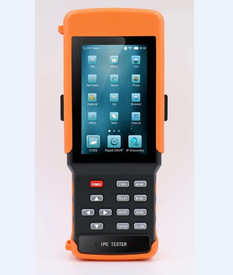 4.3 Inch H.265 4K IP CCTV Tester Monitor IP Analog CVBS Camera Tester WIFI PTZ ONVIF 12V2A Output
