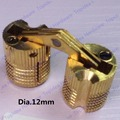 Dia. 12mm/14mm Brass cylindrical hinge hidden furniture hinge invisible installation hinge