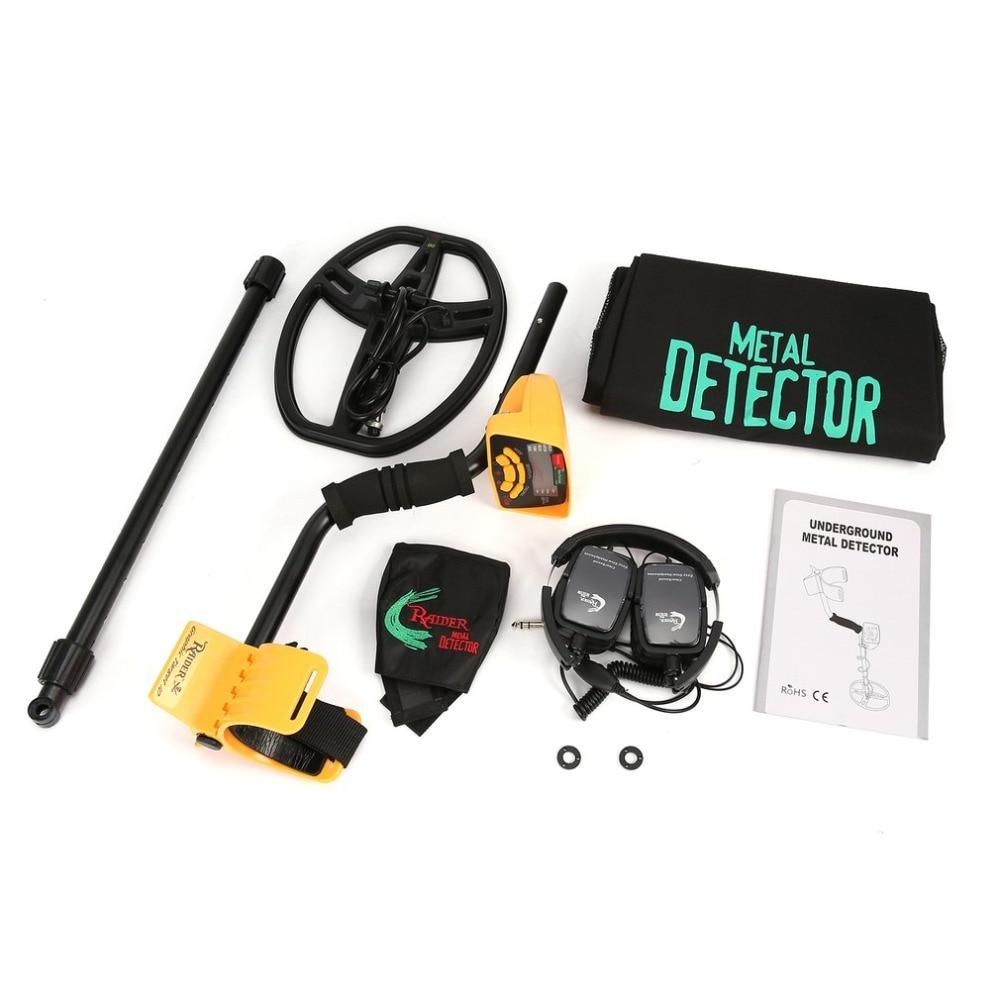 MD6350 профессиональный Подземный детектор металла ручной Охотник за сокровищами Gold Digger Finder с наушников ЖК-дисплей Дисплей