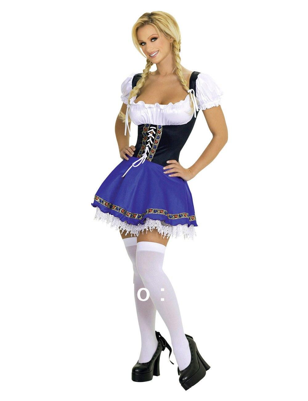 UTMEON-сексуальный женский костюм Октоберфеста Dirndl, платье горничной, немецкий баварский костюм для косплея, Сексуальные вечерние костюмы на Хэллоуин - Цвет: Многоцветный
