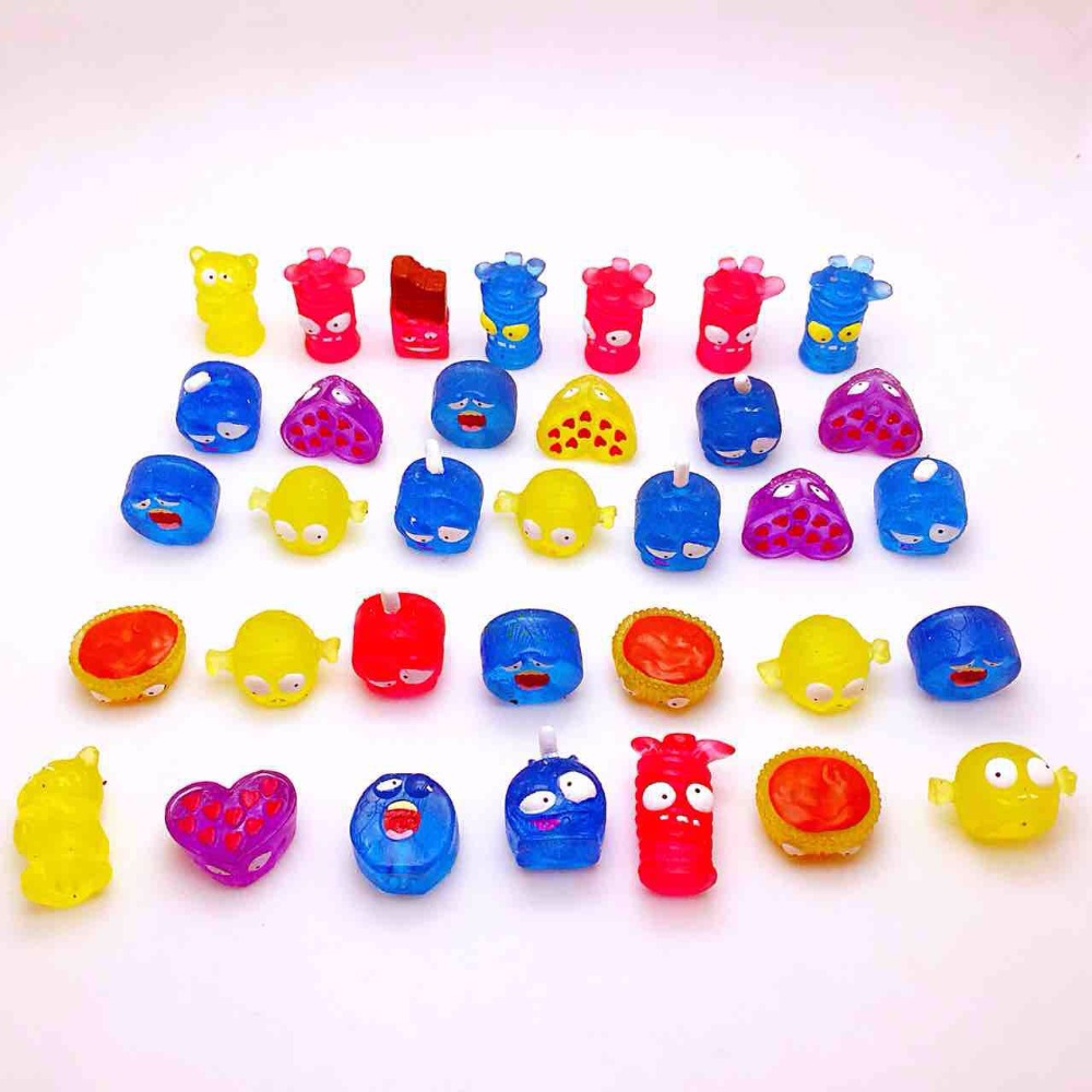 AILAIKI 100 Pcs/lot Soft Capsule Dolls The Grossery Gang Mini Action Toy Figures Kids Playing Model Doll Christmas Gift Toy