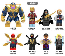X0186 LegoINGly Marvel Ant Avengers Kapitän Super Hero Iron Man Hulk Schwarz Panther Mann Wasp Bausteine Spielzeug Für Kinder set(China)