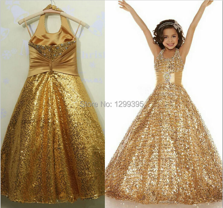Popular Gold Sequin Girls Dress-Buy Cheap Gold Sequin Girls Dress ...