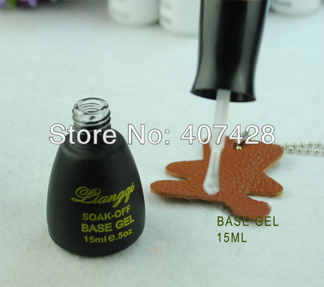 2013Hot Brands Soak Off UV Gel polish base gel CPMA free shipping