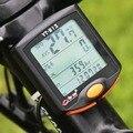 Sem fio Digital da bicicleta da bicicleta Computer odômetro velocímetro cronômetro termômetro LCD Backlight à prova de chuva multifuncional
