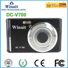 Freeshipping Max 18MP Shooting 3x Optical Zoom 8.0MP CMOS Mini Digital Camera FHD 1080P 30fps 2.4″Digital Video Recorder DC-V700
