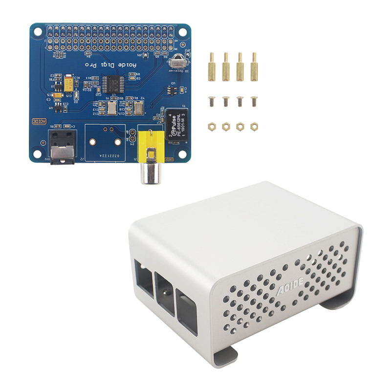 For Raspberry Pi 3 AOIDE HIFI DiGi Pro Digital Sound Card Sound Extension Board For Raspberry Pi 3 Model B+ Plus 3B 2B