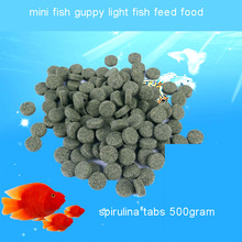 Small fish mini fish guppy light fish feed food shrimp feed food Spirulina tablets for fish 500gram стоимость