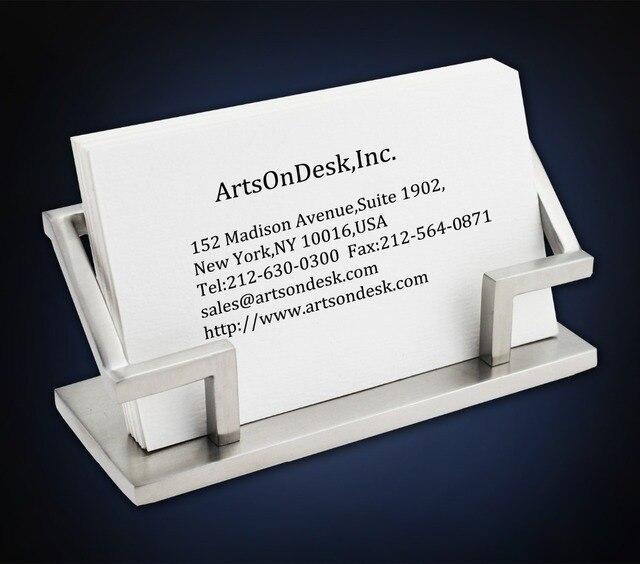 Usa Arstondesk Modern Art Business Card Holder St201 Satin Finish